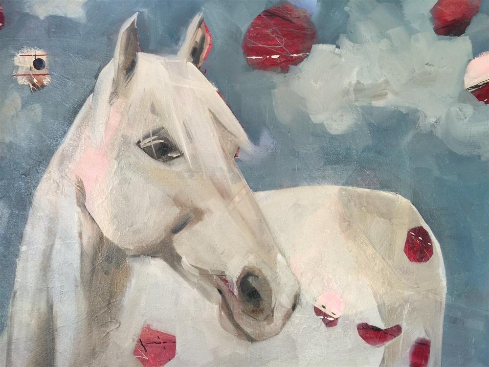 """328 Celestial Horse"" original fine art by Jenny Doh"