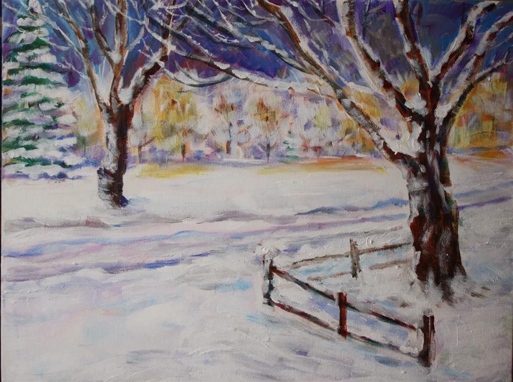 """Just Before Dawn"" original fine art by Maggie Flatley"