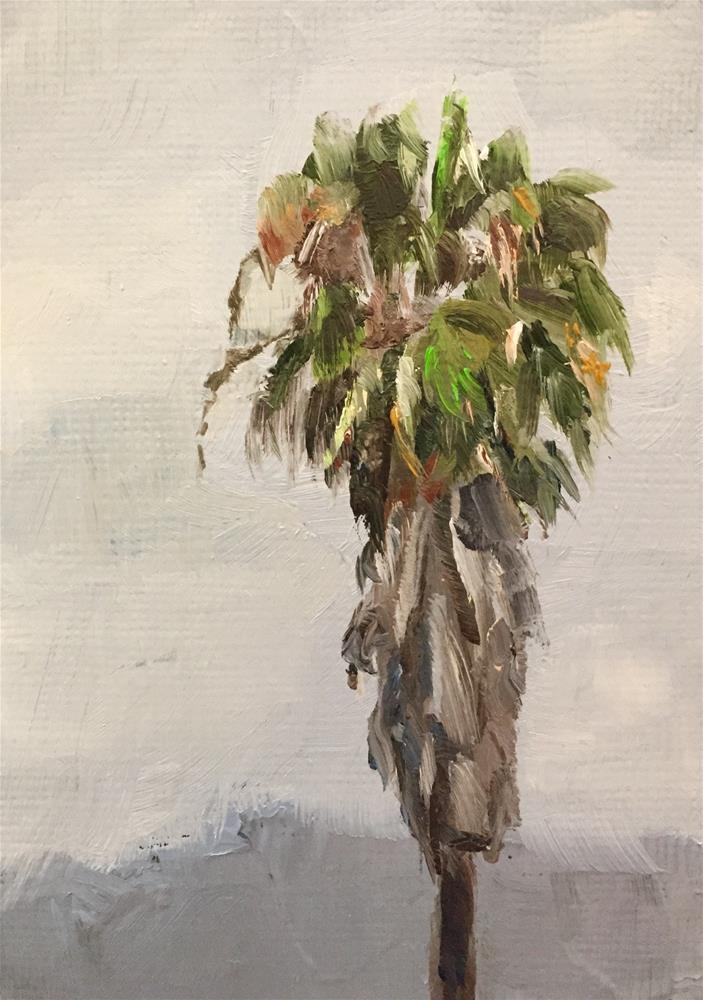 """Mexican Fan Palm"" original fine art by Gary Bruton"