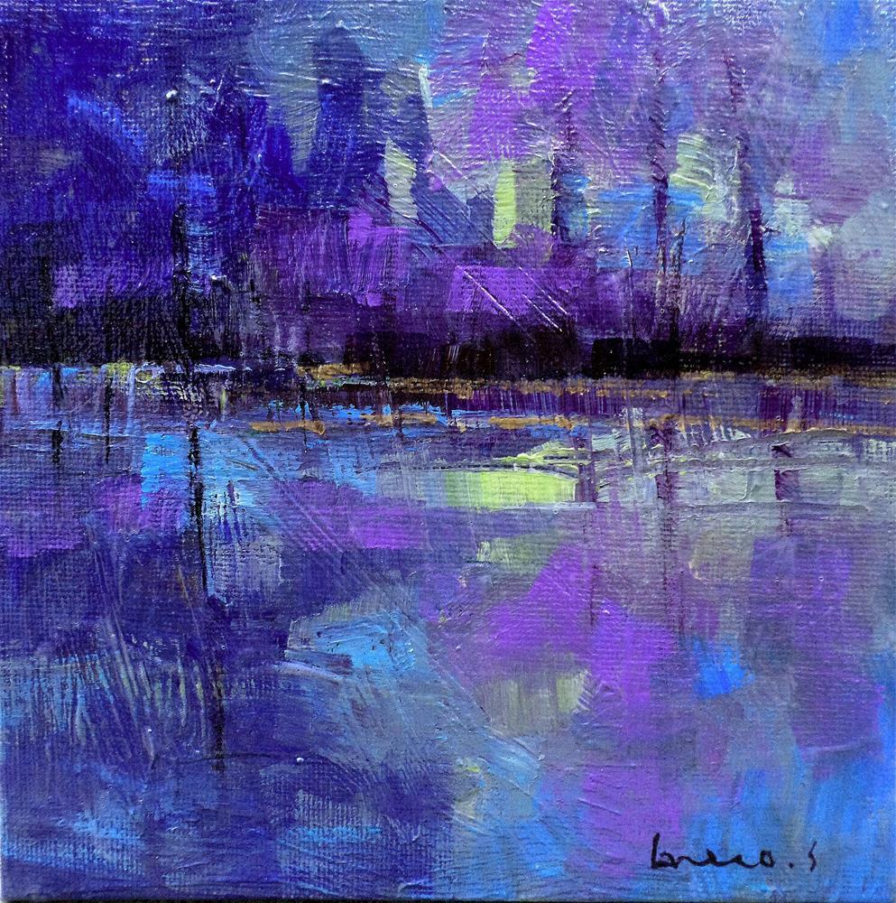 """Purple harmony"" original fine art by salvatore greco"