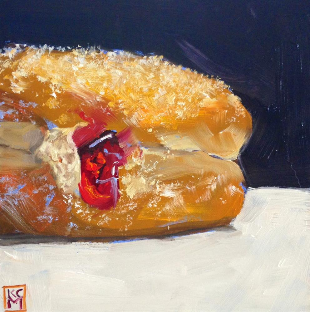 """Jelly Bomb, 6x6 Inch Oil Painting by Kelley MacDonald"" original fine art by Kelley MacDonald"