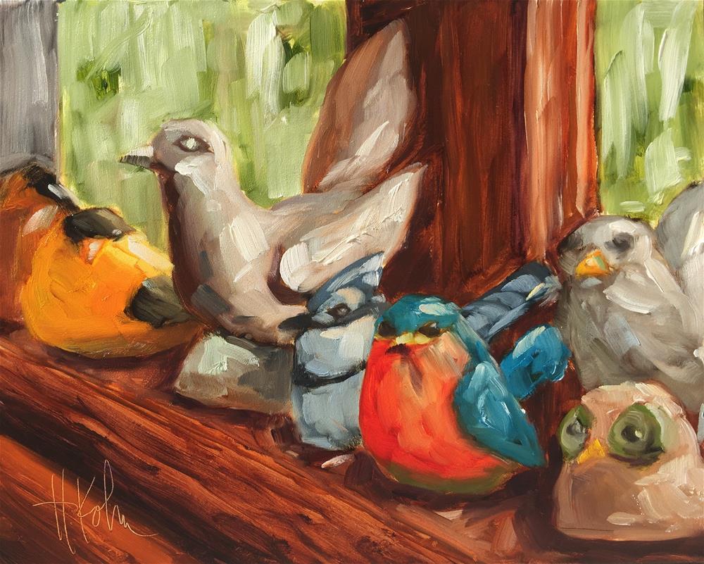 """""""Bird Collection"""" original fine art by Hallie Kohn"""