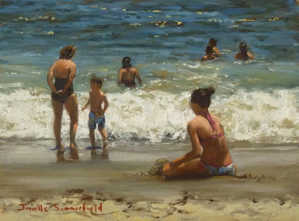 """Playing by the Shore"" original fine art by Jonelle Summerfield"
