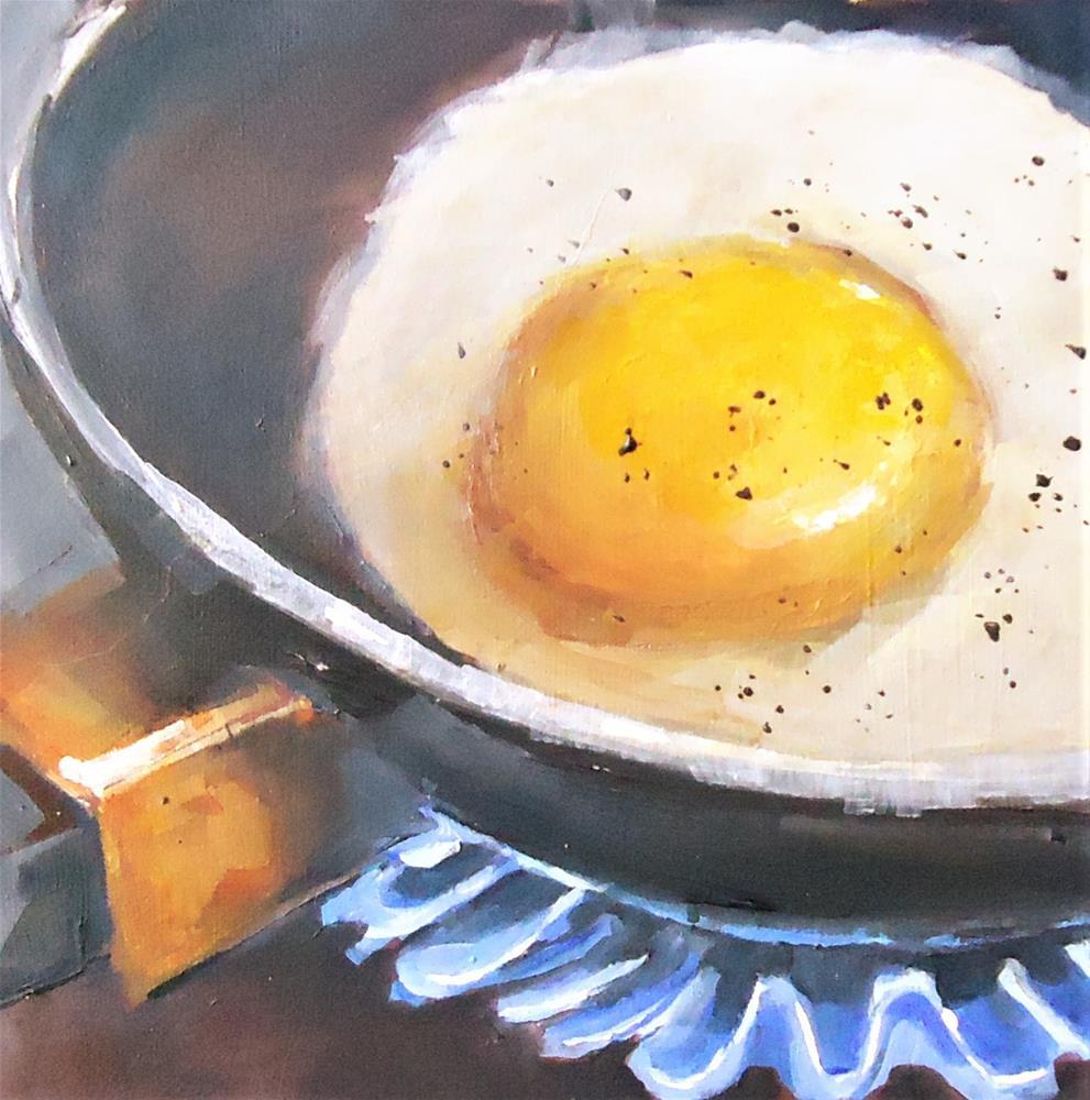 """You're a Good Egg"" original fine art by Laurie Mueller"