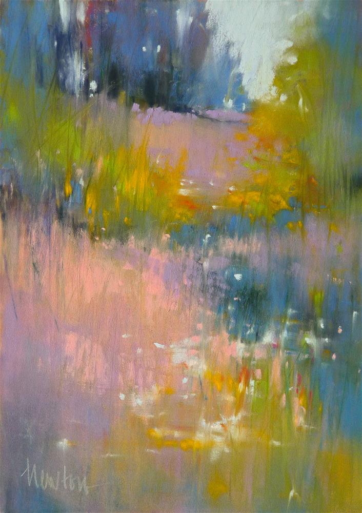 """Meadow Lights"" original fine art by Barbara Benedetti Newton"