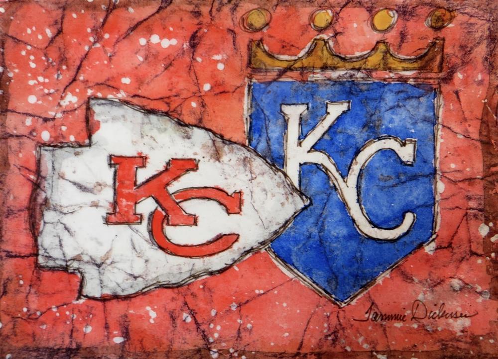 """""""KC!! - in batik"""" original fine art by Tammie Dickerson"""
