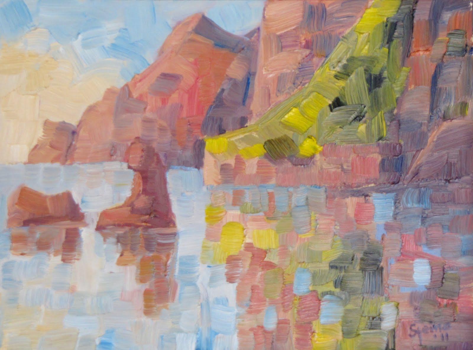 """The Color of Music"" original fine art by Steinunn Einarsdottir"