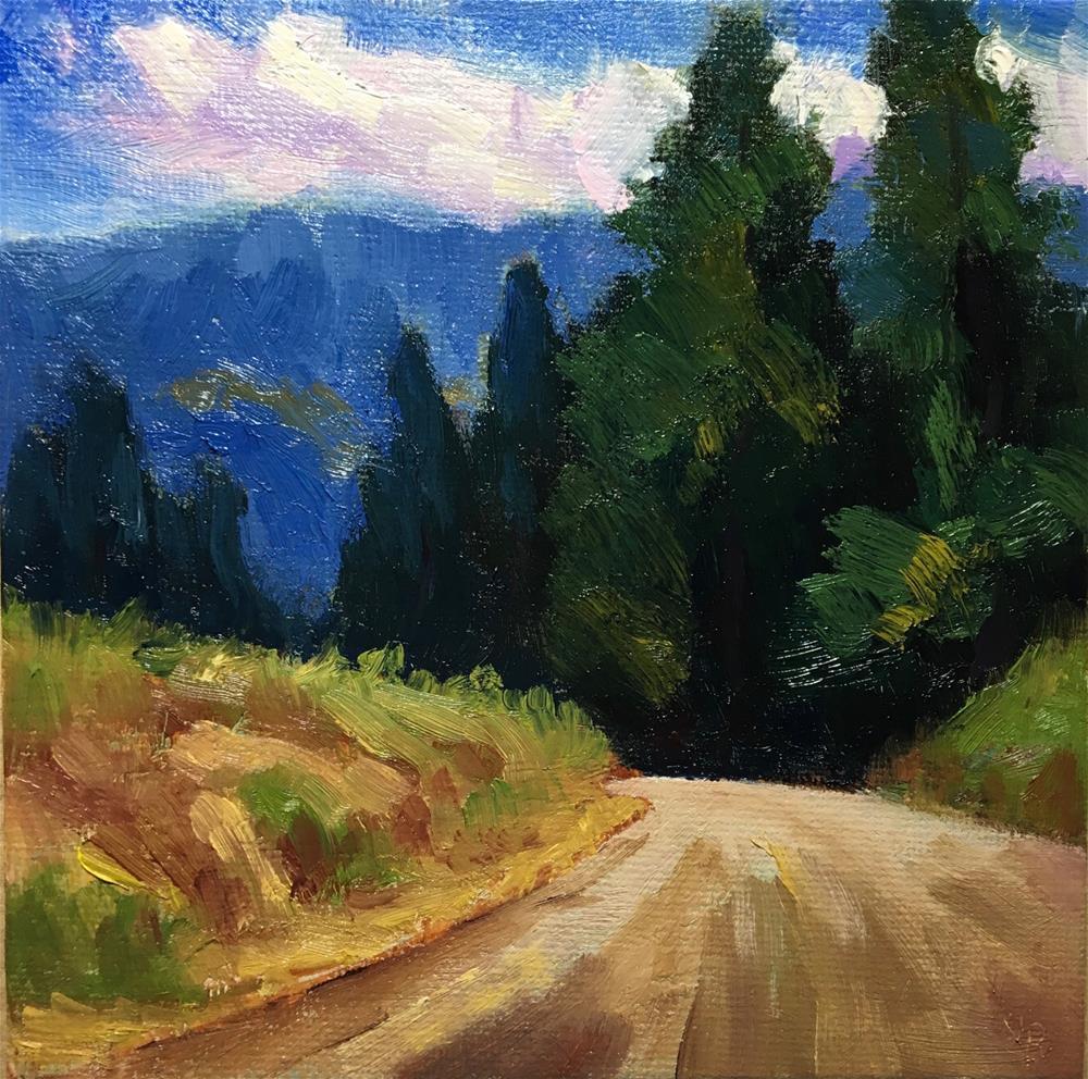 """High Country Road"" original fine art by Victoria  Biedron"