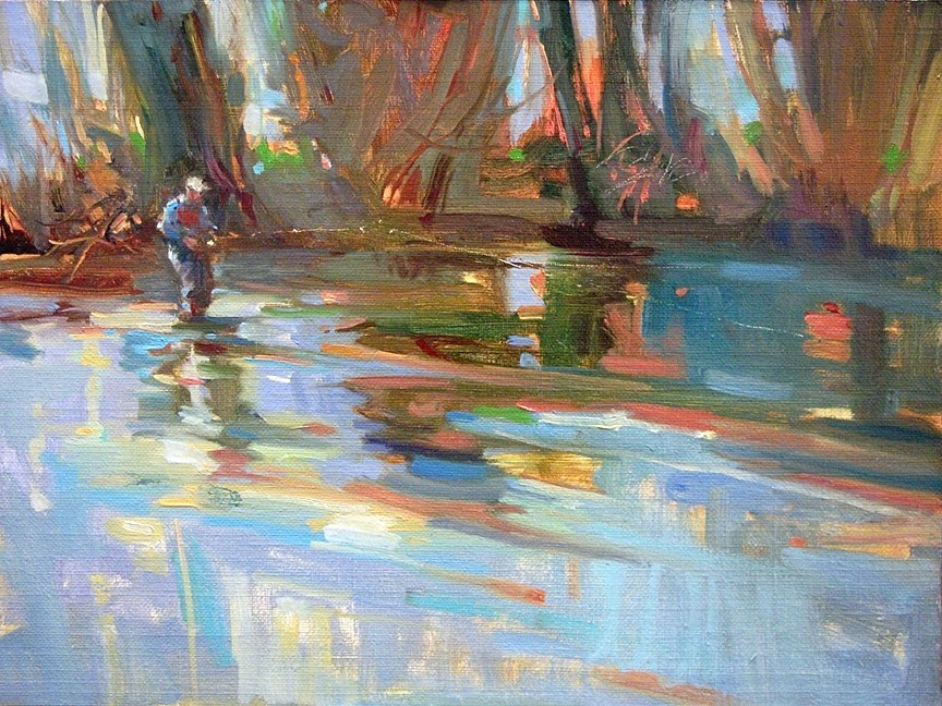 """Lost In Blue"" original fine art by Mary Maxam"