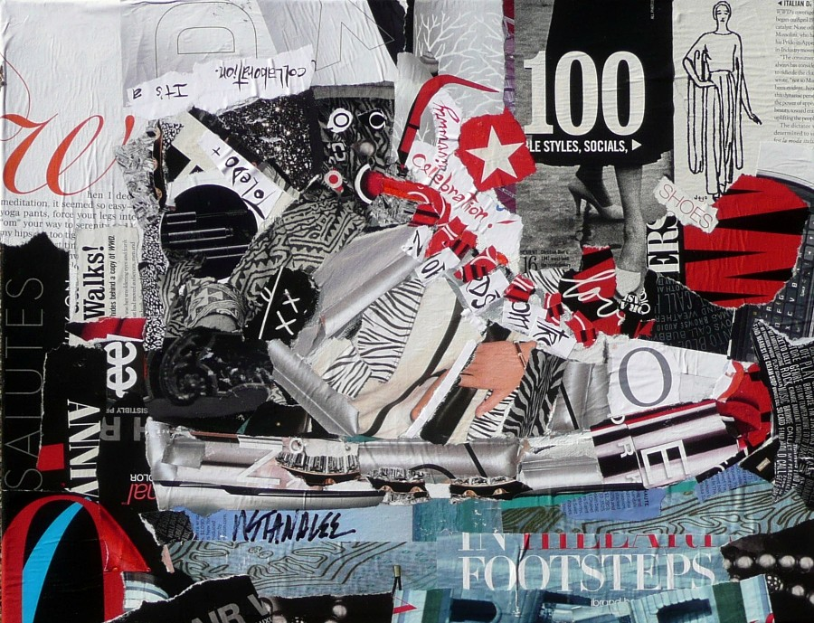 """100 Footsteps: A Sneaker, 11003  (Private collection)"" original fine art by Nancy Standlee"