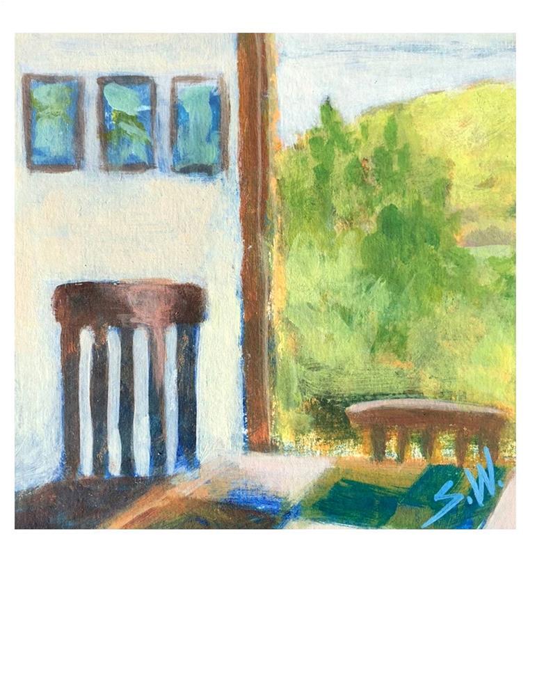 """""""Monhegan Interior"""" original fine art by Suzanne Woodward"""