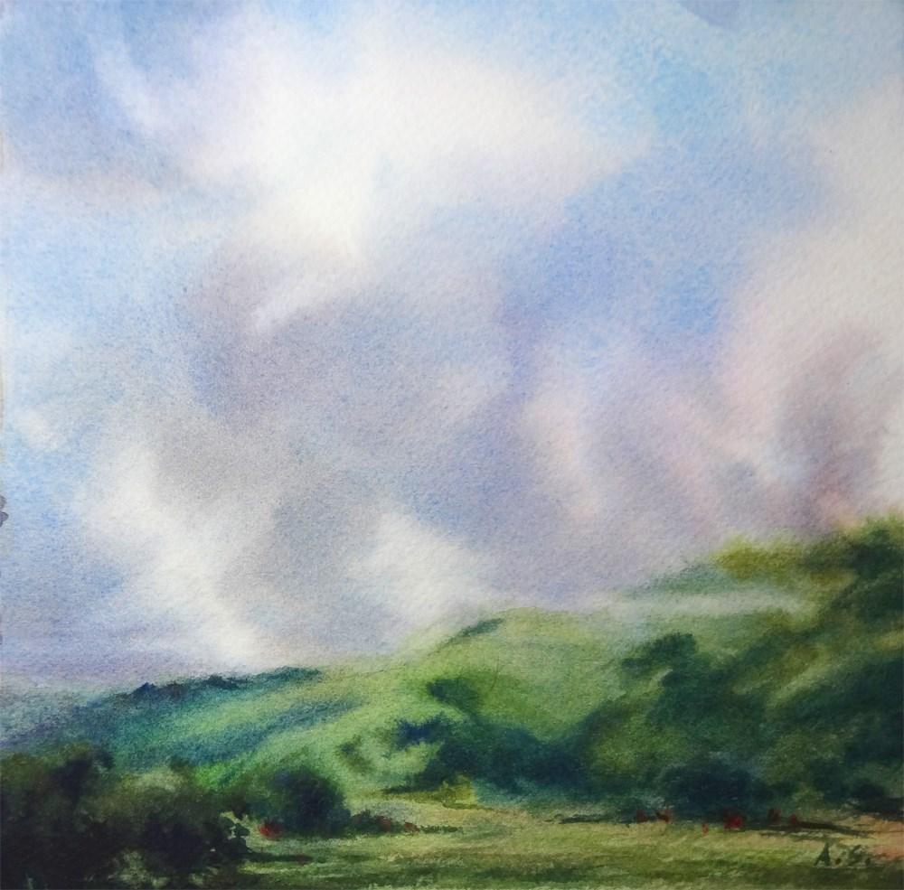 """""""Erin Green Hills"""" original fine art by Arena Shawn"""