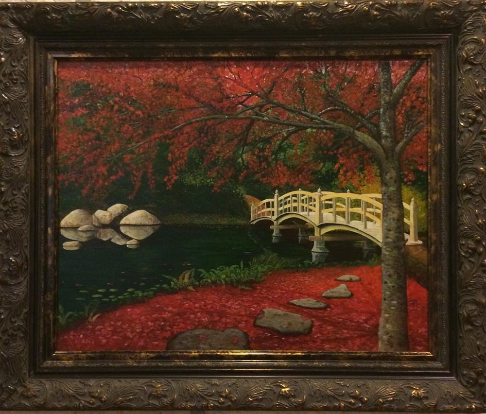 """Japanese Bridge"" original fine art by Beau Crump"