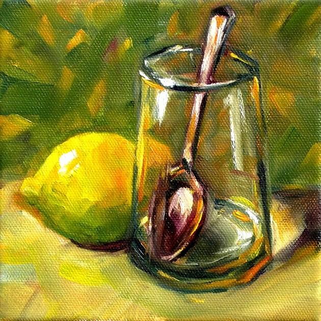 """Behind the Glass"" original fine art by Irina Beskina"