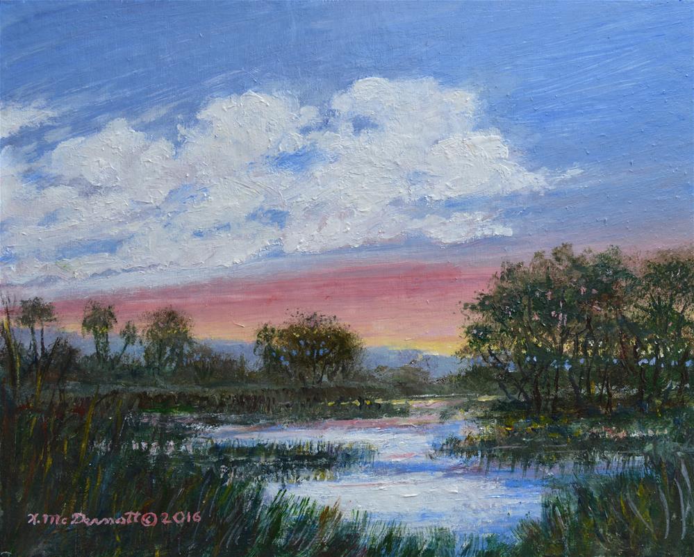 """""""Marsh Reflections"""" original fine art by Kathleen McDermott"""