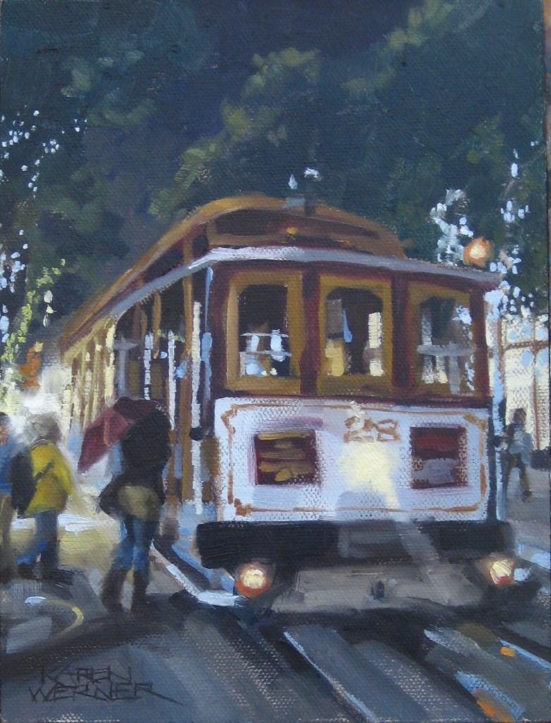 """""""Evening Ride"""" original fine art by Karen Werner"""