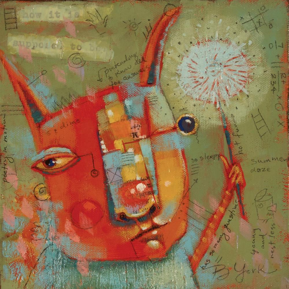 """Rabbit Ears"" original fine art by Brenda York"