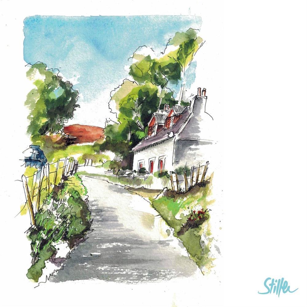 """""""3268 Demo Sketch Cornwall"""" original fine art by Dietmar Stiller"""