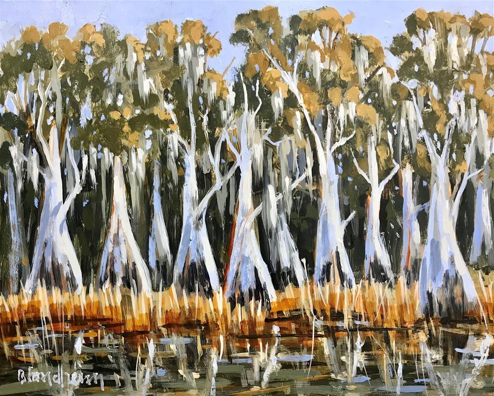 """Lake Cypress"" original fine art by Linda Blondheim"
