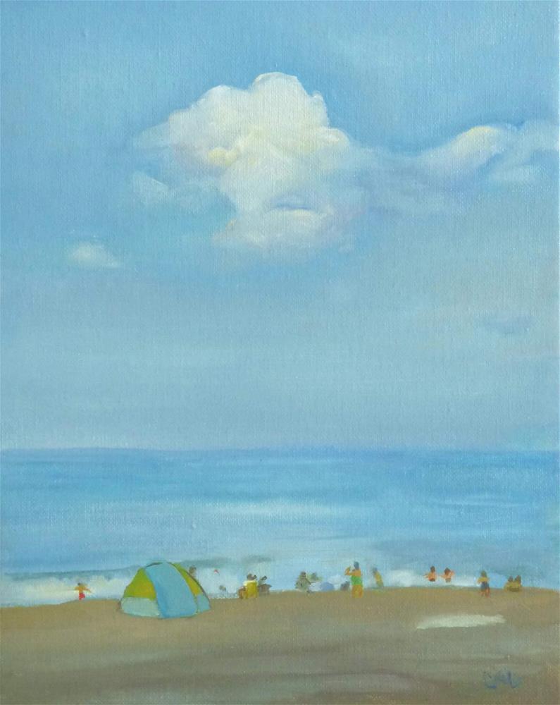 """Morning Innocence"" original fine art by Christine Angelotta Dixon"