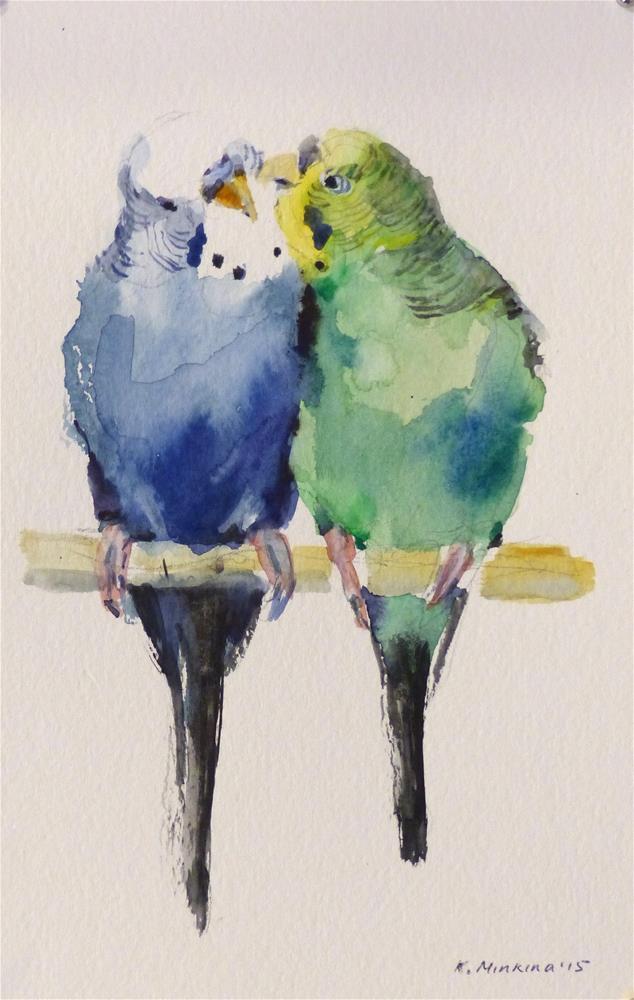"""budgie7"" original fine art by Katya Minkina"