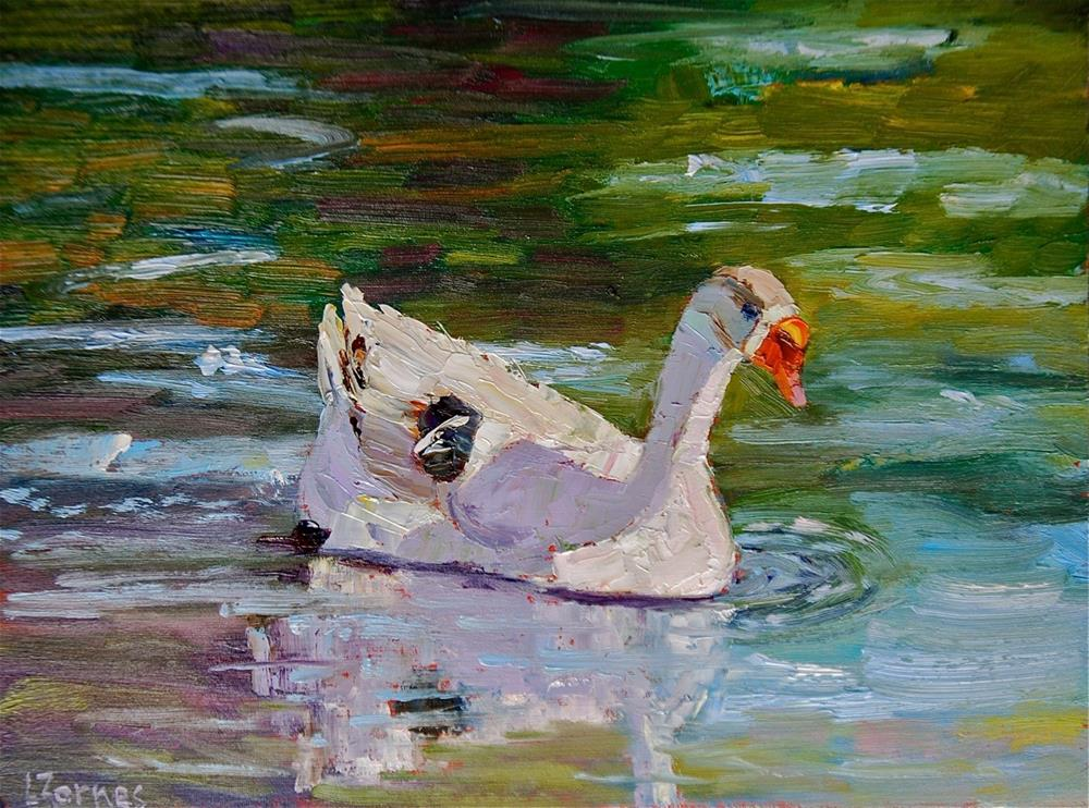 """White Rock Lake Duck"" original fine art by Liz Zornes"