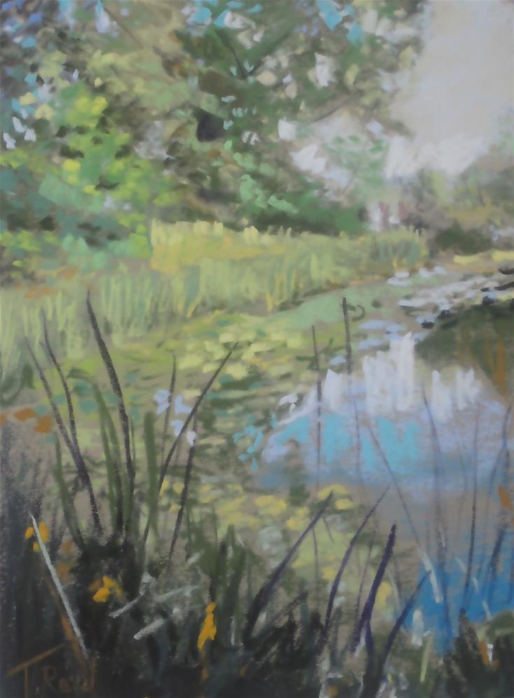"""""""Lilly's on the Pond"""" original fine art by Toby Reid"""