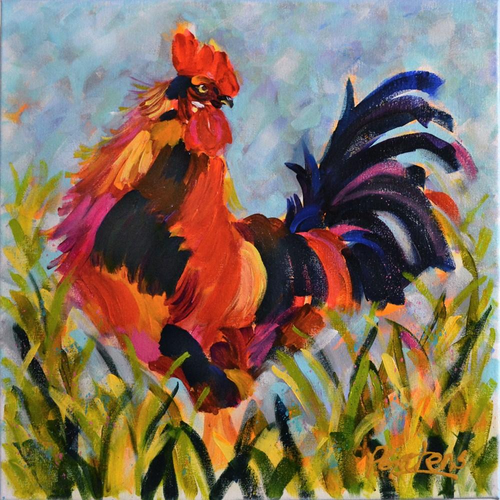 """Big Red"" original fine art by Pamela Gatens"
