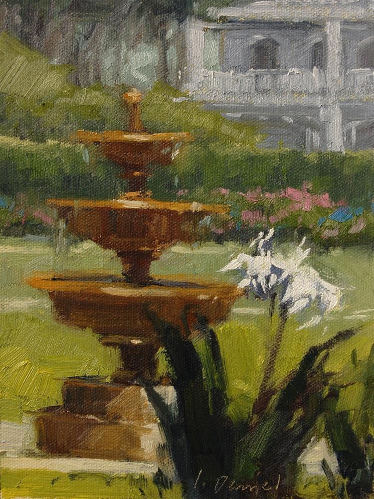 """""""Garden Sparkle"""" original fine art by Laurel Daniel"""