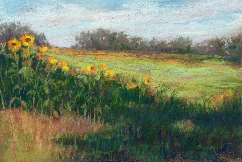 """Labor Day Weekend Sale--Edge of the Field"" original fine art by Vikki Bouffard"