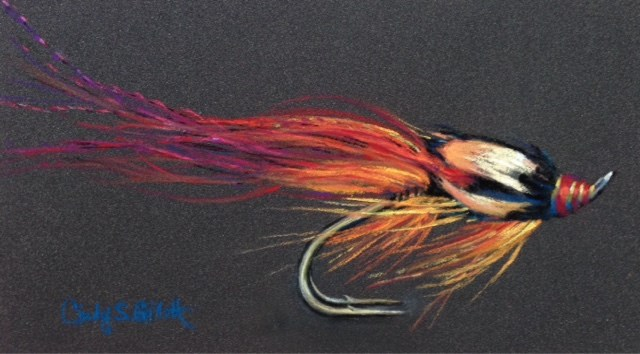 """Fly 21 - Orange Flamethrower"" original fine art by Cindy Gillett"
