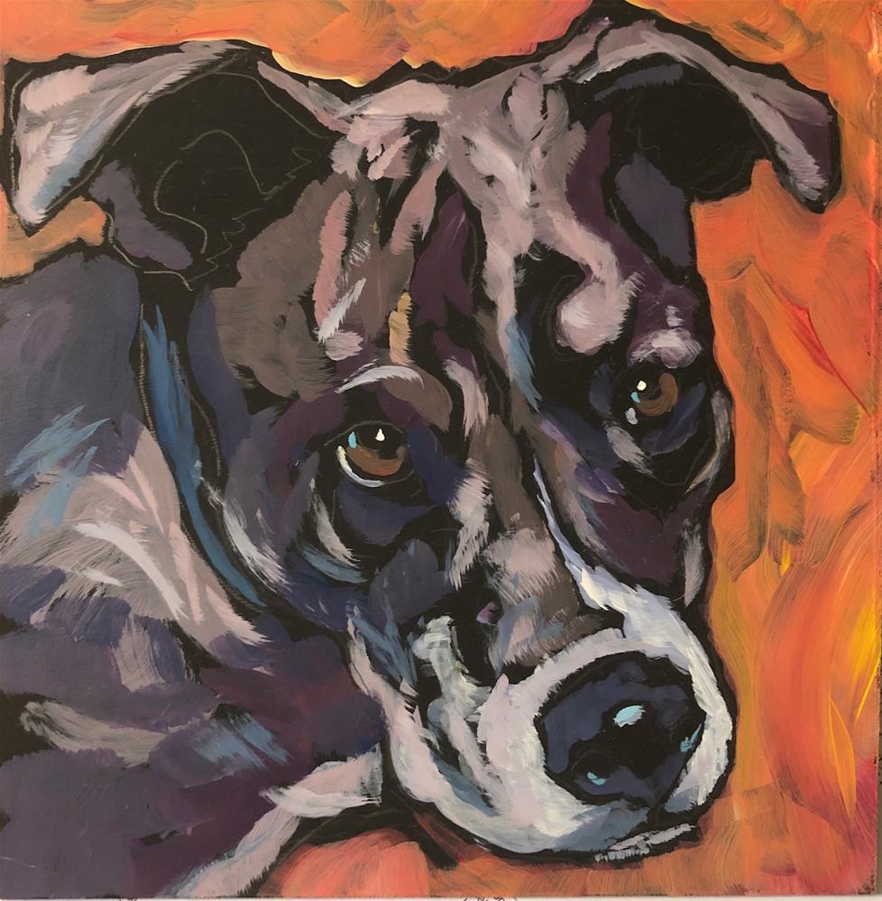 """Dweezil"" original fine art by Kat Corrigan"