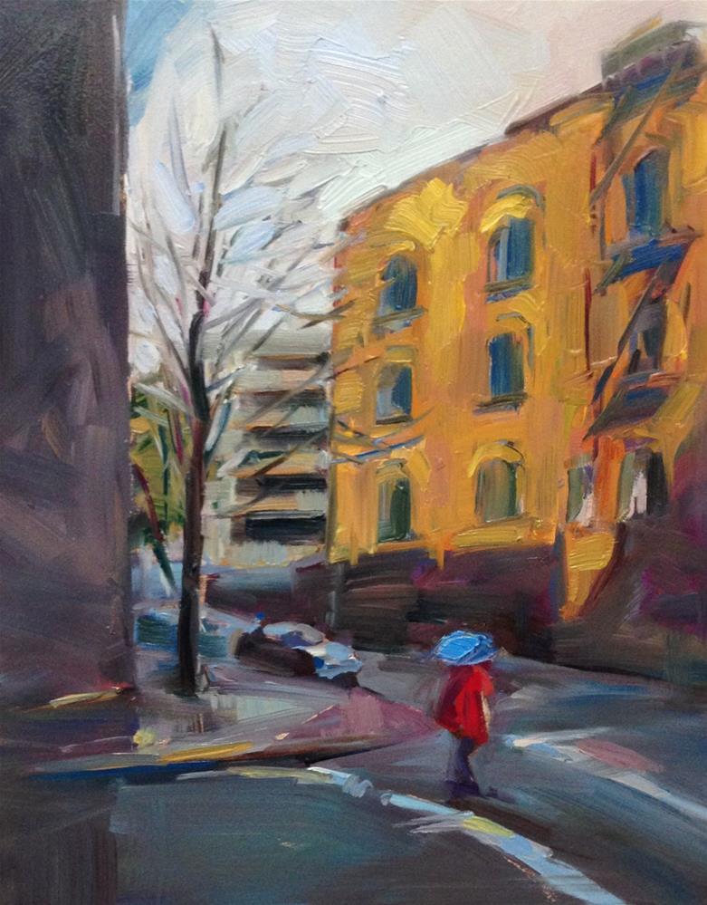 """""""A Bit of Red"""" original fine art by Patti McNutt"""