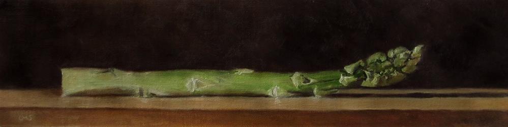 """""""Green Asparagus"""" original fine art by Ulrike Miesen-Schuermann"""