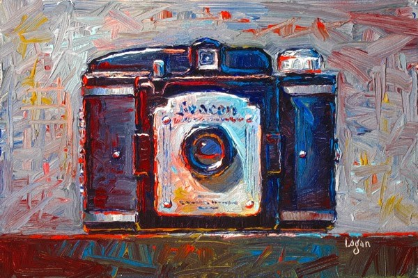 """Beacon Two-Twenty Five Camera"" original fine art by Raymond Logan"