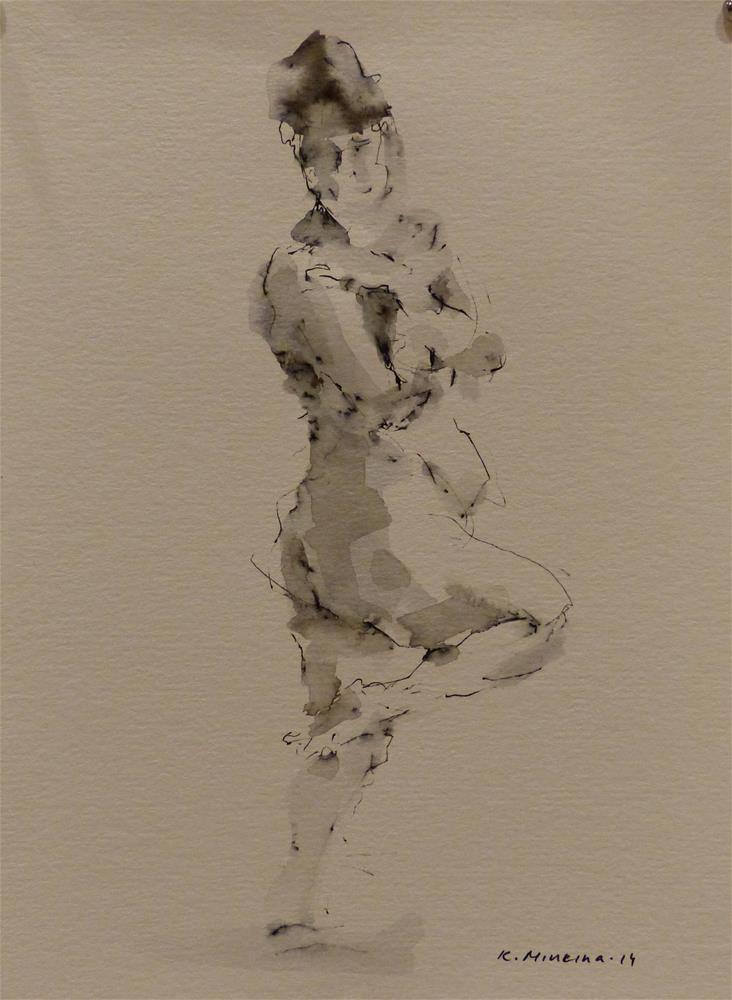 """nude5"" original fine art by Katya Minkina"