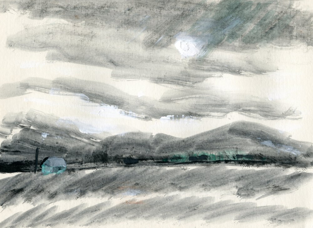 """""""Mojave Moon"""" original fine art by Stanley Epperson"""