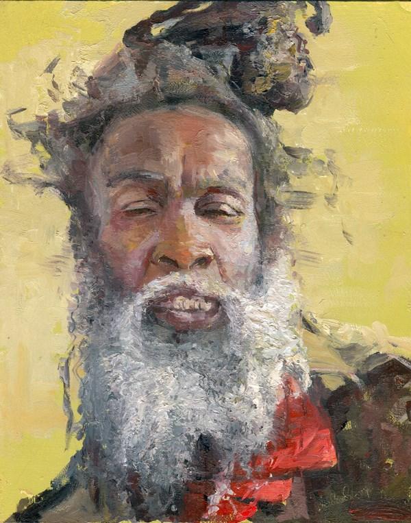 """The Face of Homelessness, Clapham Common II"" original fine art by Adebanji Alade"