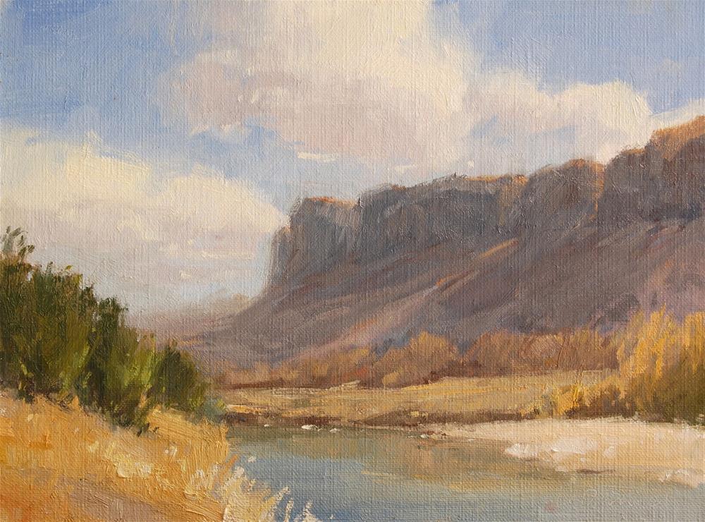 """""""River Border - Big Bend"""" original fine art by Laurel Daniel"""