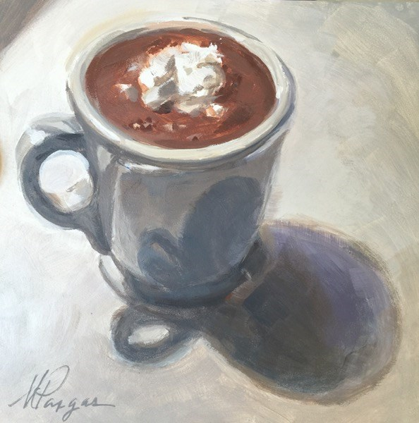 """""""Hot Cocoa"""" original fine art by Mary Pargas"""
