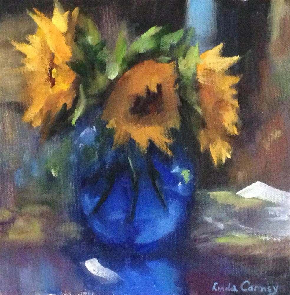 """""""It's all about that Vase"""" original fine art by Linda Carney"""