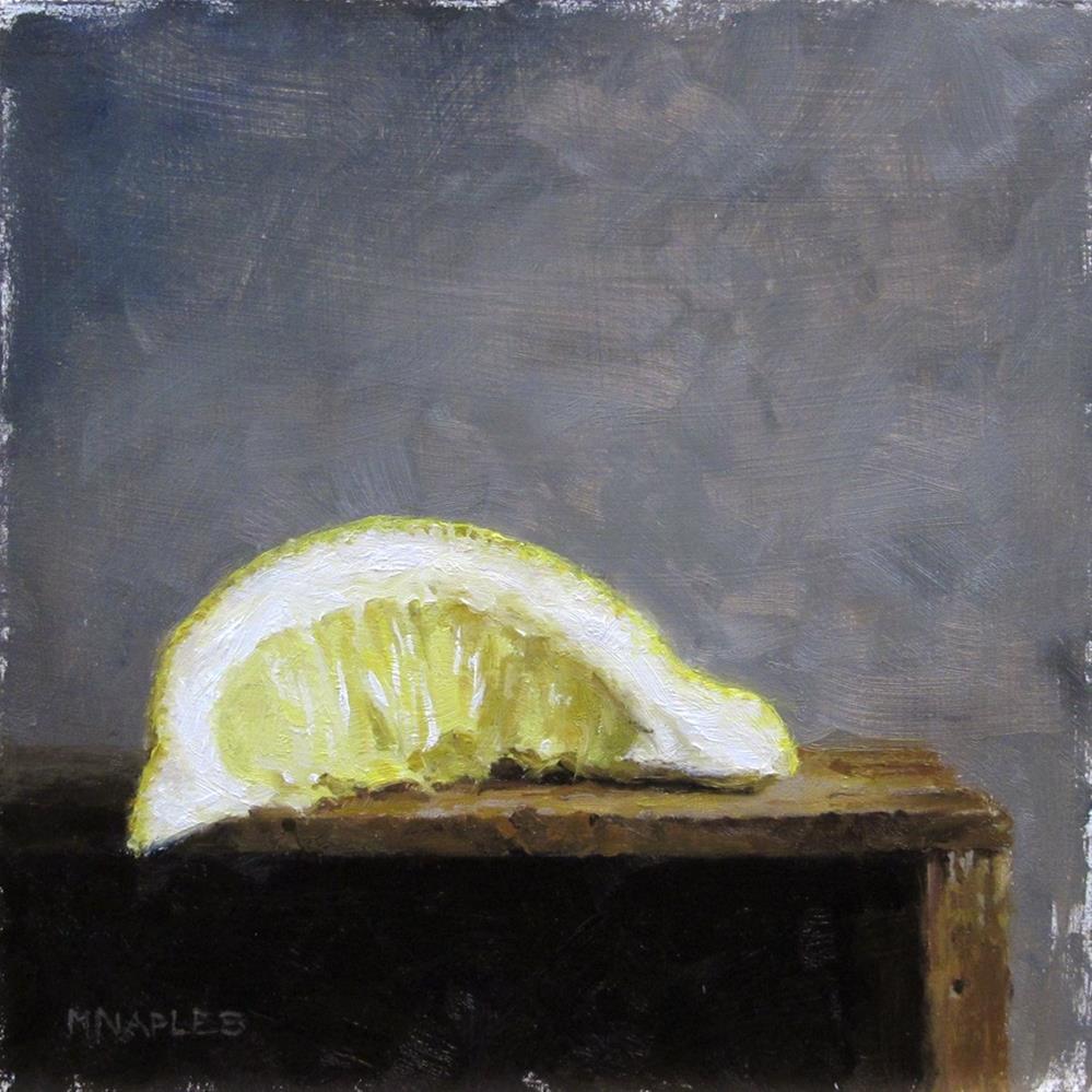 """""""Squeezed Lemon No.3"""" original fine art by Michael Naples"""