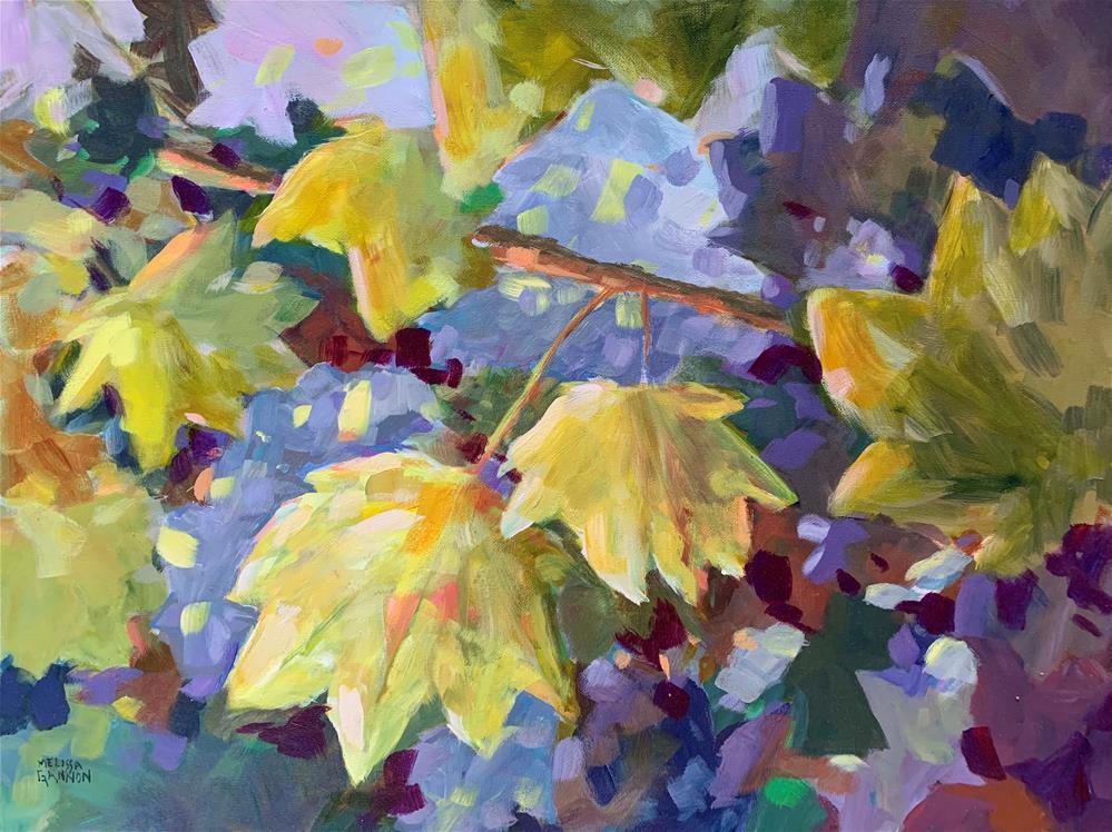 """Leaf Poem"" original fine art by Melissa Gannon"