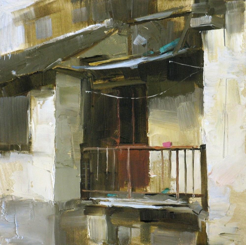"""Old Balcony"" original fine art by Qiang Huang"