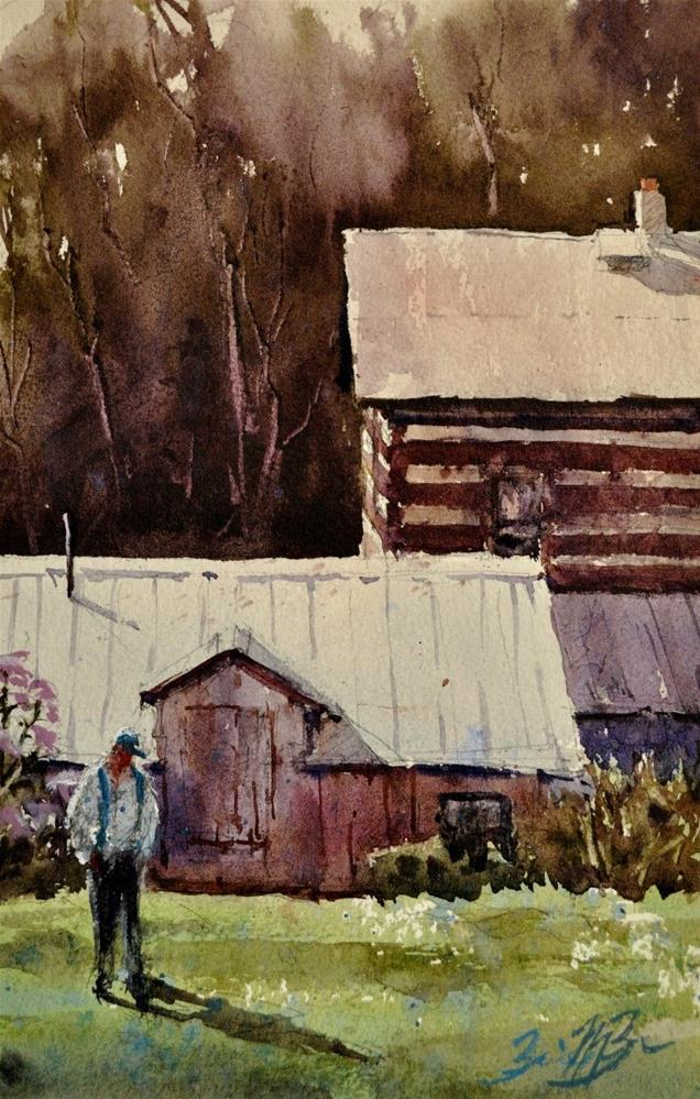 """""""Chicory House"""" original fine art by Brienne M Brown"""
