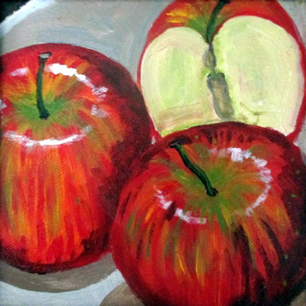 """""""3 Apples"""" original fine art by Lisa Wiertel"""