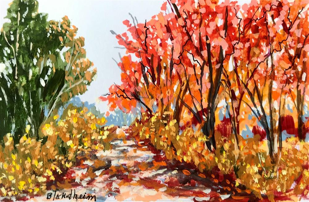 """Fall Path"" original fine art by Linda Blondheim"