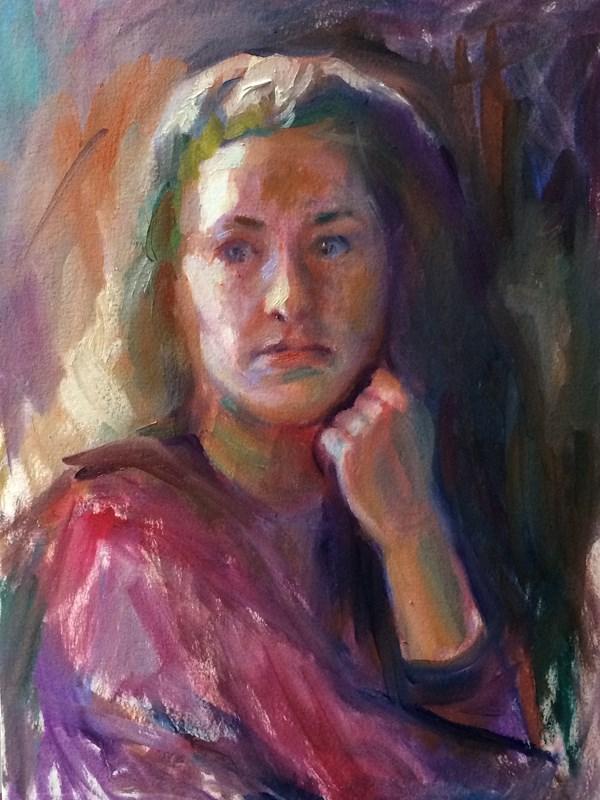"""Portrait Study"" original fine art by Sharon Savitz"