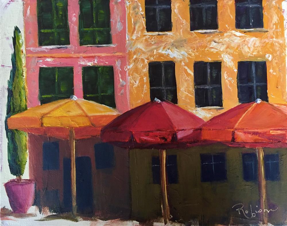 """Vernazza Piazza"" original fine art by Renee Robison"