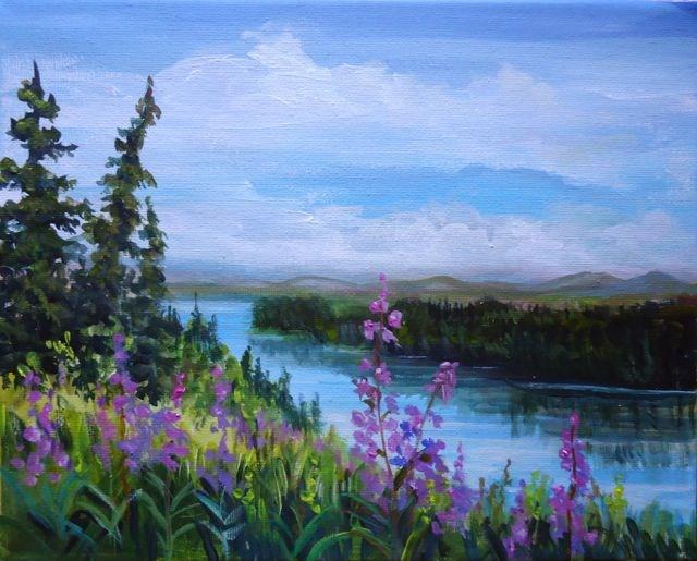 """Summer Blues"" original fine art by Jackie Irvine"